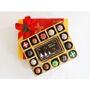 merry christmas with belgian chocolate pralines 2017