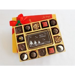 merry christmas with luxury chocolate truffles 2017