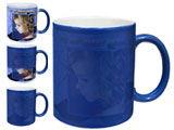 Color Changing, Magic,  Photo Mug, Blue