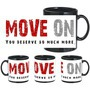 Move On Black Mug - image
