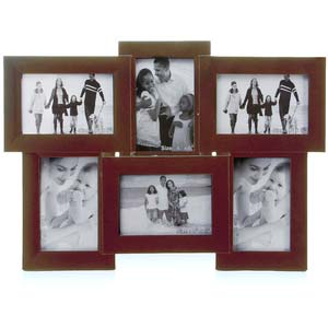 multi tile pattern photo frame brown collage frame