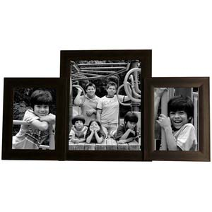 multiple photo frames 8x10 and 5x7 brown collage frame