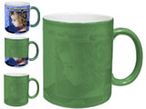 Color Changing, Magic, Photo Mug, Green