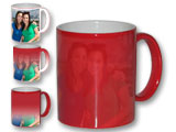 Color Changing, Magic, Photo Mug, Red