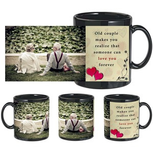 old couple black mug