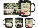 Old Couple Black Mug