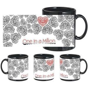 one in a million black mug