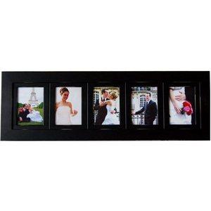 panel of five photo frames 4x6 black collage frame