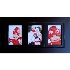 panel of three picture frames black collage frame