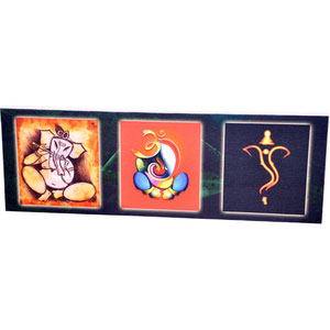 Panoramic Collage Canvas of Sri Ganesh - image