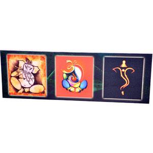 Panoramic Collage Canvas of Sri Ganesh - image
