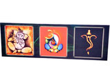 Panoramic Collage Canvas of Sri Ganesh