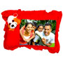 personalized-photo-teddy-pillow-red - image