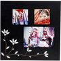 photo-collage-frame-3-photos-white-metal - image