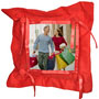 photo pillow button square red