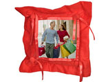 Customized Red Button Pillow Cover with Pillow