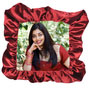 photo pillow square maroon gather