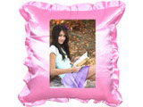 Personalized Pink Pillow with Cover - Square