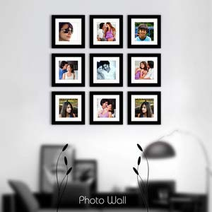 photo wall gallery black x15