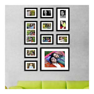 photo wall gallery black x4