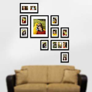 photo wall gallery black x5