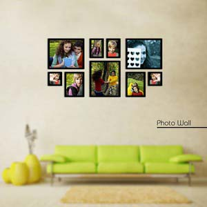 photo wall gallery black x7
