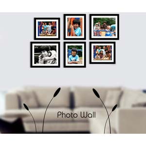 photo wall gallery black x9