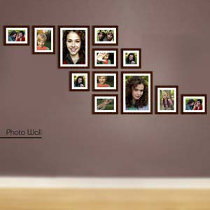 photo wall gallery brown x10