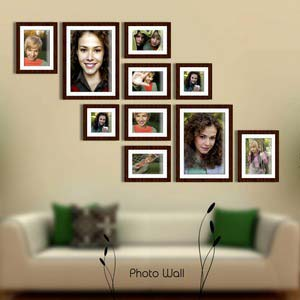 photo wall gallery brown x11