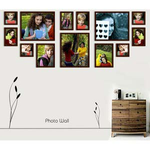photo wall gallery brown x12
