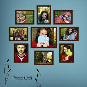 photo wall gallery brown x14