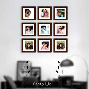 photo wall gallery brown x15