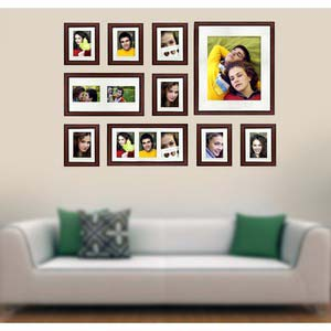 photo wall gallery brown x2