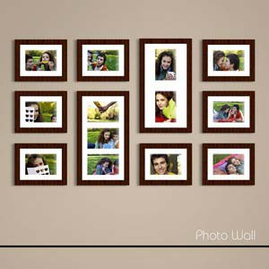 photo wall gallery brown x20