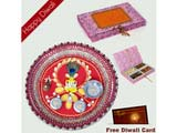 Pooja Thali with Dryfruits in Handmade Box