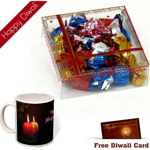 premium chocolates 15 pcs with diwali wishes mug
