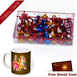 premium chocolates 30 pcs with diwali wishes mug
