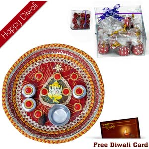 premium chocolates and pooja thali