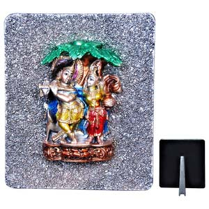 radha krishna under a tree idol