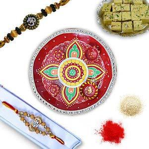 rakhi sg auspicious diamond rakhi 27008