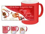 Auspicious Happy Rakshabandhan Red Magic Mug