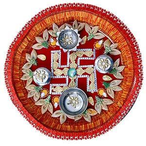 rakhi sg beads rakhi thali with ganesha 22230
