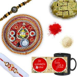 rakhi sg colorful diamond and beads rakhi 27055