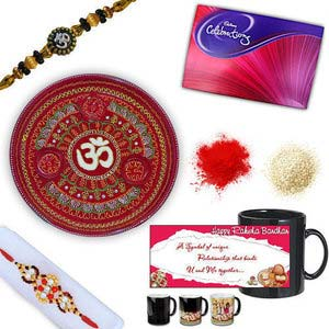 rakhi sg colorful diamond and beads rakhi 27083