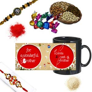 rakhi sg colorful diamond and beads rakhi 27106