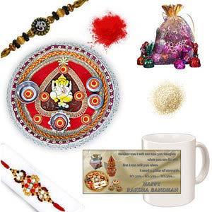 rakhi sg colorful diamond and beads rakhi 27137