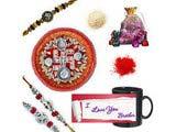 Decorative Beads Rakhi Set Gift Hamper