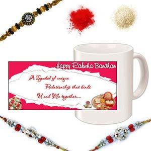 rakhi sg decorative beads rakhi set 27113