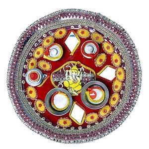 rakhi sg decorative ganesha thali 22222