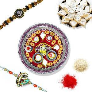 rakhi sg designer beads rakhi 27001